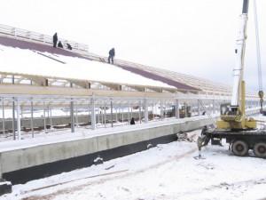 Строительство коровника в Баталово